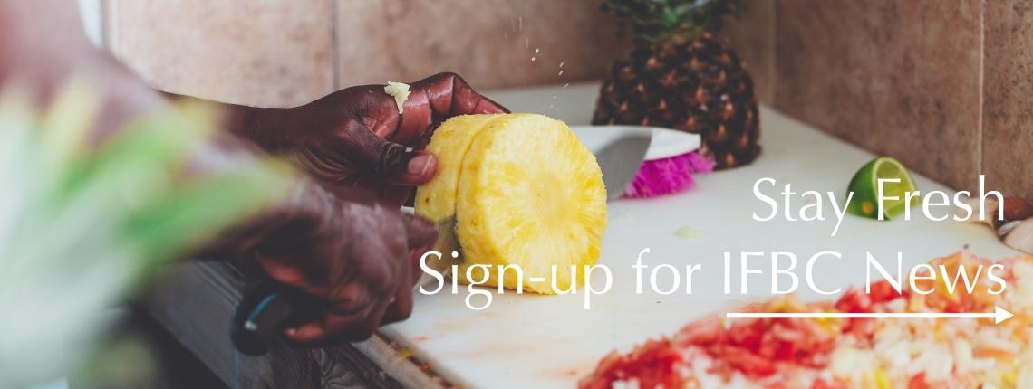 Website Slider News Sign up